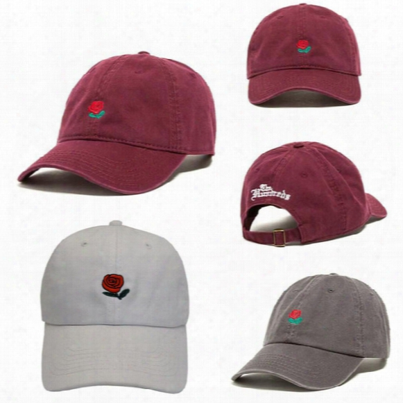 2017 Customized Design Baseball Hat Fashion Rose Strap Back Cap Adjustable Cheap Men Casquette Golf Snapback Hip Hop Flat Sun Hat Women New