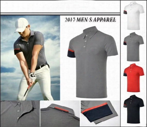 2017 Summer Breathable Golf Short T Shirt