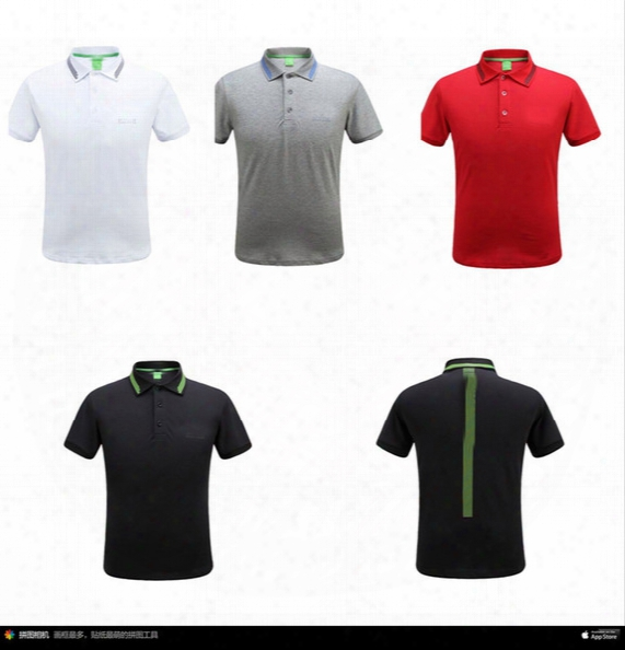2017.2.24 001 New Spring Fashion Classic Designer Bos High Quality Men Short Sleeve Golf Polo Shoorts