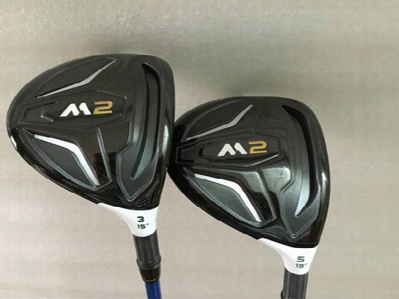 2pcs New M2 Fairway Woods 3# 5# M2 Golf Woods Regular Stiff Golf Clubs Woods Come Headcover