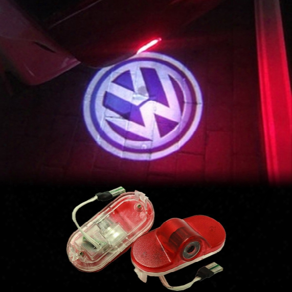2x Led Volkswagen Lavida Vw Touran Golf 4 Caddy Beetle Bora Car Door Logo Light Hd Ghost Shadow Courtesy Laser Projector Welcome Lamp