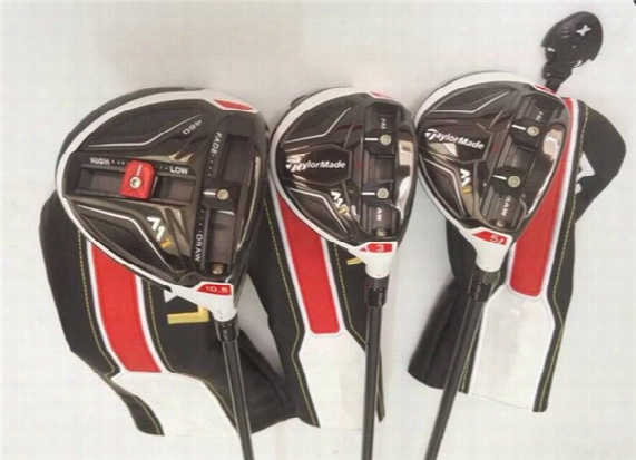 3pcs M1 Wood Set Golf Woods Oem Golf Clubs Driver + Fairway Woods R/s-flex Graphite Shaft Assemble With Head Cover