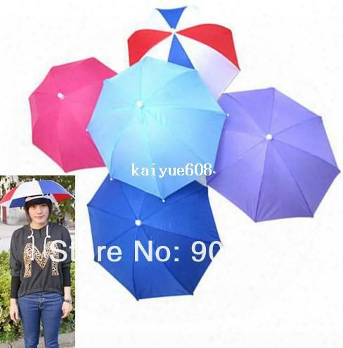 5 Colors Foldable Golf Fishing Hunting Camping Sun Brolly Umbrella Hat Cap New
