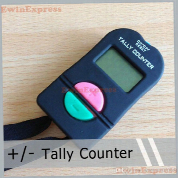 5x Digital Hand Tally Counter Electronic Manual Clicker Add/subtract Model For Golf Sports Muslim Free Shipping