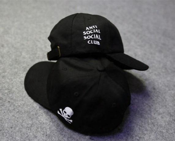 Anti Social Social Club Mastermind Japan Skull Undefeated Snapback Skateboard Hats Brand Hip Hop Golf Dad Caps