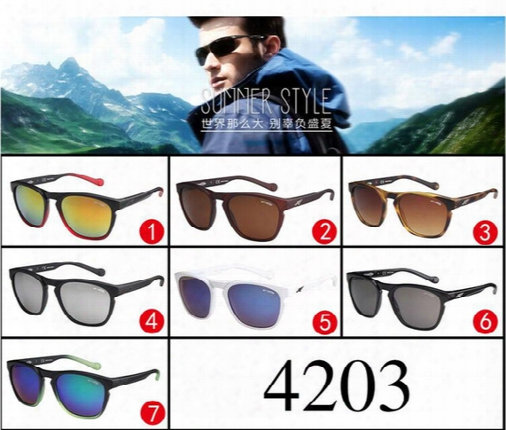 Arnette 4203 Brand Designer Sunglasses The Leg Can Removed Sport Cycling Sunglasses Uv 400 Ourdoor Eyewear Shades For Golf Wear