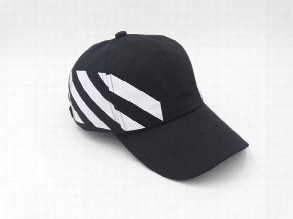 Baseball Cap Off White Stripe Snapback Hats For Men Women Brand Hip Hop Caps Golf Fashion Adjustable Bone Masculino Rose Casquette