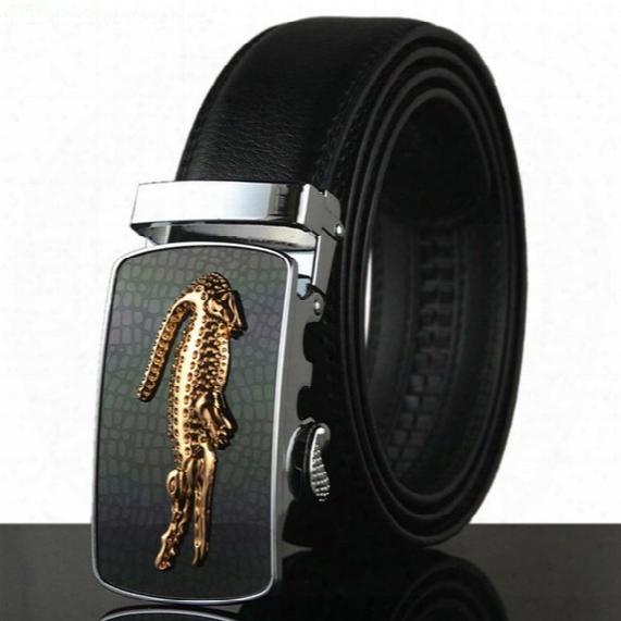 Belt 2016 Hot Fashion Cowhide Leather Men Jeans Belt Designer Luxury Famous High Quality Automatic Buckle Men Belts For Men