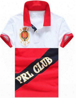 Big Horse Printing Men Polo Shirt Breathable Short Sleeves Prl Club Polos Golf Clothing Famous Camisetas Vetement Tennis Casual Shirts
