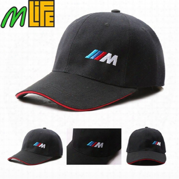 Black Cotton M Logo M Performance Car Baseball Hat Sport Hat For Bmw E21 E30 E36 E46 E90 E91 E92 E93 F30 X3 X5 X6 3 Series 5 Series