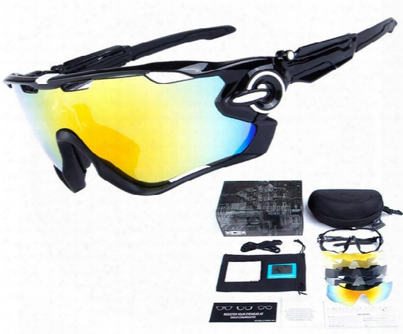 Brand 5 Lens Cycling Galsses Tr90 With Box 15 Colors Igh Quality New Jawbreaker Sports Sunglasses Polarized Women Men Outdoor Goggles