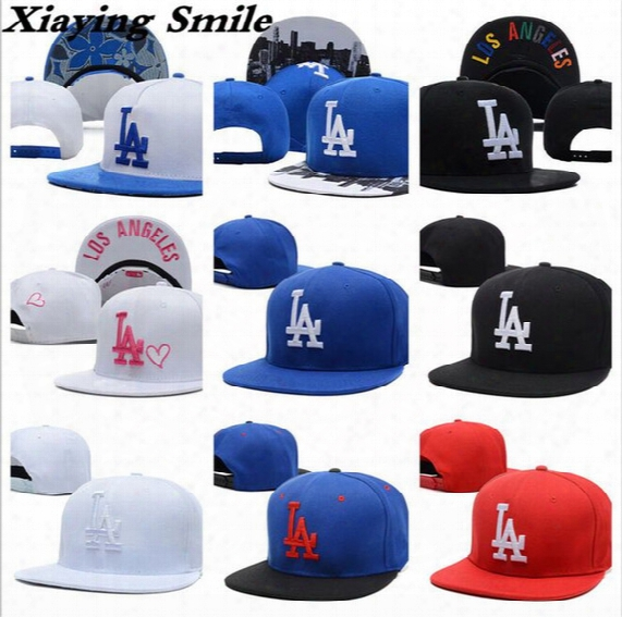 Brand La Snapback Adjustable Caps Outdoor Hip Hop Hats Sports Fitted Snap Back Cap Baseball Hats Wholesale Men Women La Embroidery Dodgers