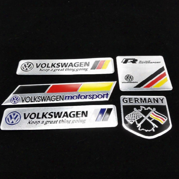 Car Trunk Badge Emblem Sticker Metal Aluminum Vw Car Decal Sticker Logo Motorsport For Volkswagen Jetta Bora Passat Golf Polo Cc