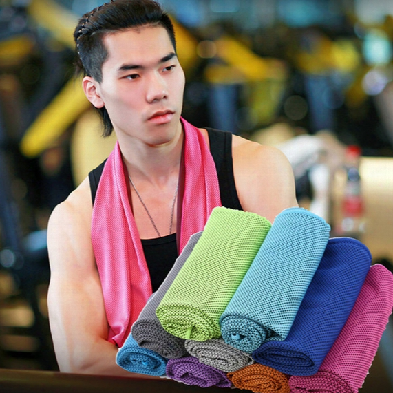 Colorful Cooling Towel Stay Cool With The Advanced Hyper-absorbent Cooling Sports Towel Golf Towel,gym And Yoya Sport Towel Dhl Free