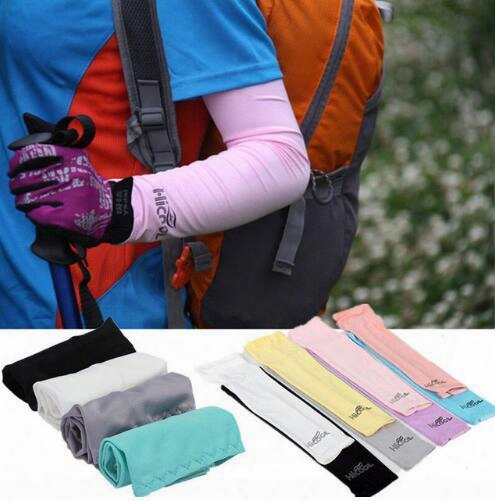 Custom Logo Sunscreen Bike Cycling Cuff Arm Sleeves Sun Uv Protecttion Bicycle Armwarmers For Outdoor Games Fishing Golf Sport Cycling Hiking