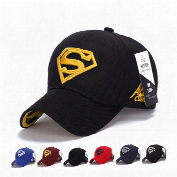 Designer Superman Embroidery Baseball Cap Adjustable Strapback Cotton Curved Baseabll Hat Men Woman Golf Cap Diamond Brand Sun Hats Amp Caps