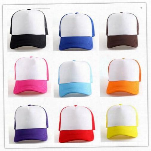 Fashion Unisex Mens Women Trucker Half Mesh Hat Summer Snapback Golf Baseball Sun Cap Hats Gift