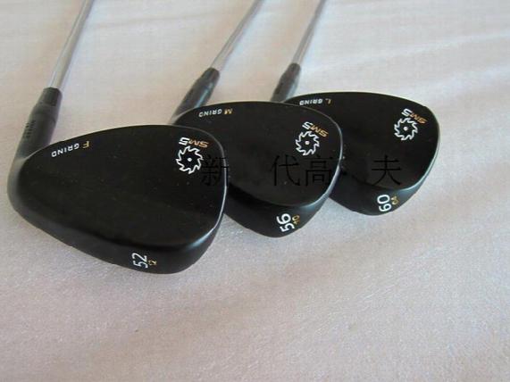 Free Shipping Black S- M5 Golf Wedges Set 52,56,60 Loft Or Other Loft
