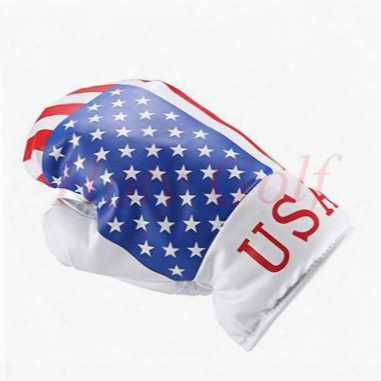 Free Shipping New Flag 1pc Golf Boxing Gloves Driver Head Covers For Golf Driver Wood England /canada /usa