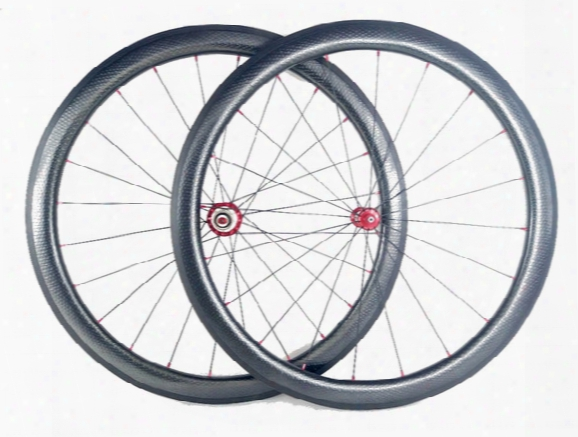 Golf Surface Carbon Wheels 45mm Depth 25mm Width Carbon Wheelset Full Carbon Fiber Dimple Surface Wheelset With Powerway R36 Hub