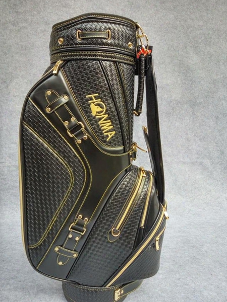 Honma Golf Bag Black White Brown Woven Leather Golf Caddy Bag High Grand Golf Cart Bags