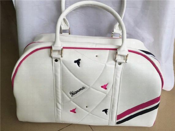 Honma U100 Golf Bag Women Golf Boston Bag Ladies Clothing Bags Pu Fashion Travel Dufful Bags Can Put Shoes Pink Blue Yellow