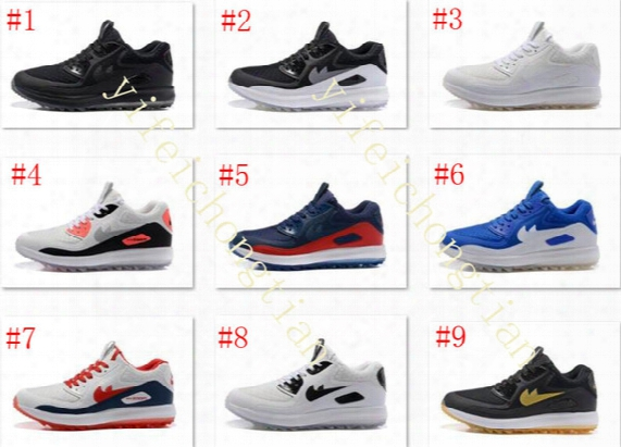 Hot Sale 2017 Lunar Control 4 Golf Shoes Medium Air Zoom 90 It Sports Shoes Men Sneakers With Box Size Us7-12