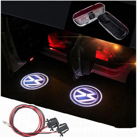Led Door Lights For Volkswagen Vw Golf 6 Gti Mk6 Mk5 De Ghost Laser Shadow Projector Automobiles External Car Welcome Lamps