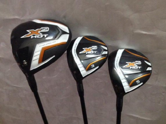 Left Haned Golf Clubs X2 Hot Driver + 3# 5# Fairway Wods Graphite Shaft 3pcs X2 Hot Golf Woods Come Headcover
