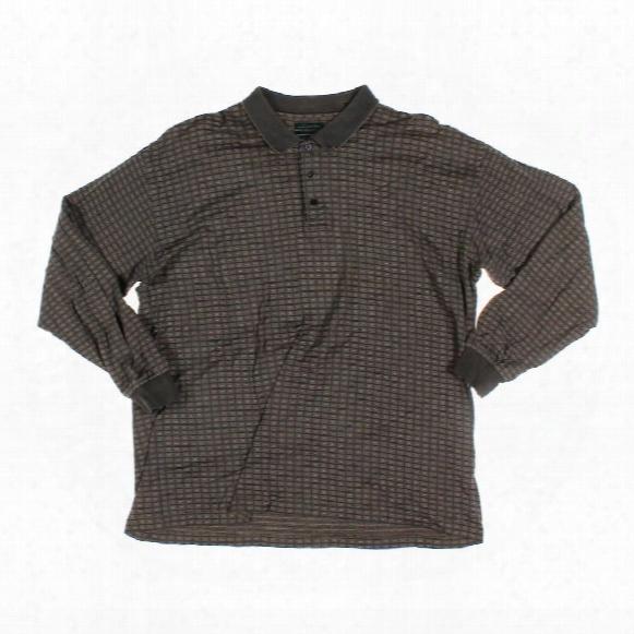 Long Sleeve Polo Shirt, Size L
