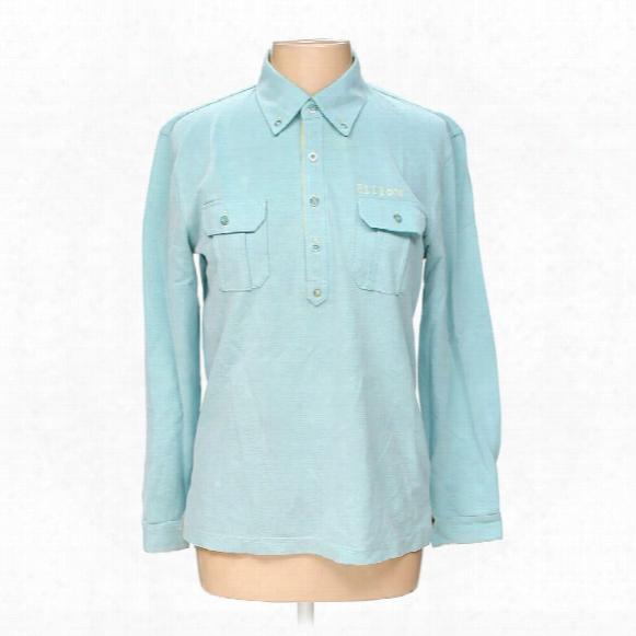 Long Sleeve Polo Shirt, Size M