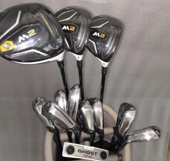 M2 Golf Combo Set M2 Irons(8pcs)+driver(1pc)+fairway(2pcs)+ghost Journey  Putter(1pc) Steel/graphite Shafts With Head Cover Without Bag