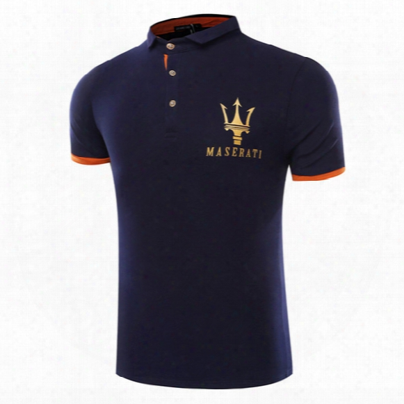 Maserati Crown Polo Shirts Golf Slim Comfortable Designer Formal Polo Shirts With Cotton Blend For Men Dt772