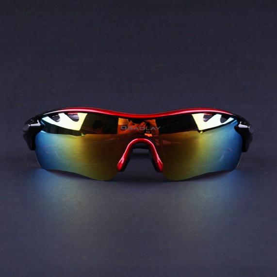 Men Women Polarized Sports Sunglasses Outdoor Cycling Sunglasses With 5 Lens For Cycling Hiking Running Golf
