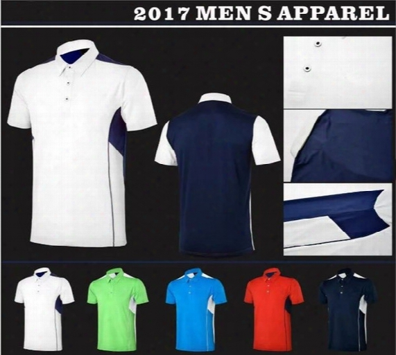 Mens Summer New Top Quality Brand Mens' Short Sleelve Quick Dry Polo Golf T-shirt