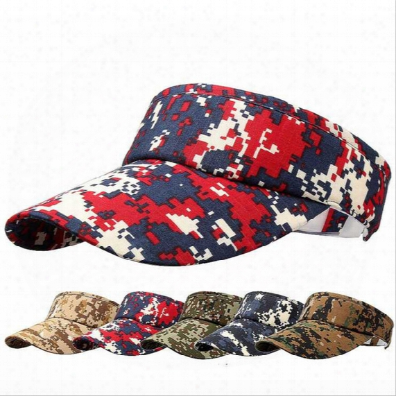 Mens Womens Usa Army Cotton Adjustable Sun Visor Military Caps Adults Summer Camouflage Camping Mountaineering Sports Golf Baseball Caps