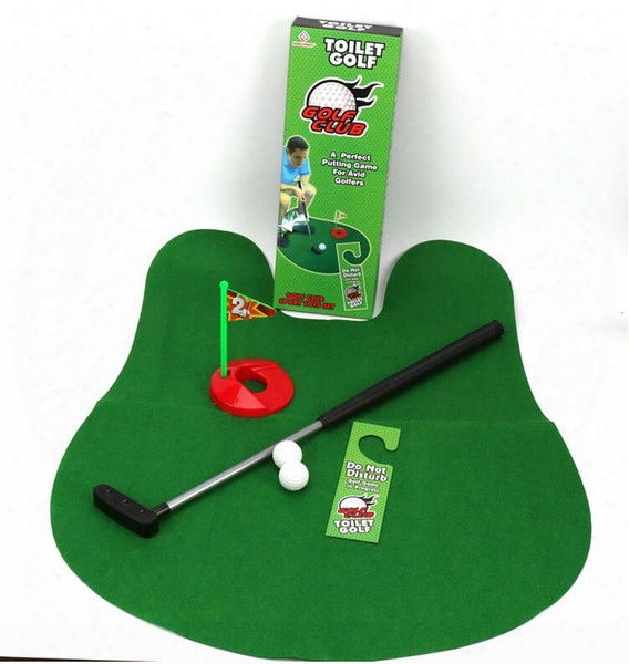 Mini Bathroom Toilet Golf Mat Balls Set A Perfect Putting Game For Avid Golfers Potty Putter Golf Trainer Fun Game