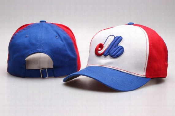 New Arrival Men's Montreal Expos White Red Blue Golf Visor Snapback Hats Team Logo Embroidery Sport Adjustable Baseball Strap Back Caps
