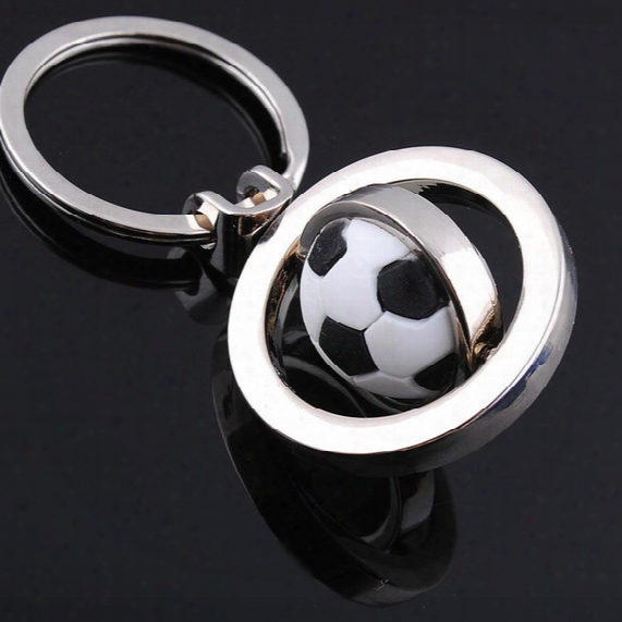 New Basketball Football Golf Keychain Men Mini Simulation Rotatable Ball Key Chains Chain Key Rings Keyring Novelty Promotion Gift Dhl024