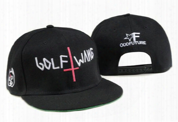 New Fashion Odd Future Golf Wang Snapback Letter Baseball Caps Black Hats For Men And Women Hip Hop Hiphop Bboy Cap Tymy