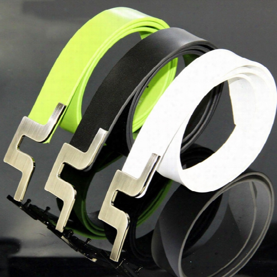 New Fashionable Mens Sport Belts High Quality Geniune Leather Buckle Casual Beft 3colors S-xl Golf Equipment Free Shipping