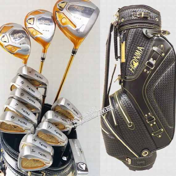 New Golf Clubs Honma S-03 4 Star Complete Clubs Set Golf Driver+fairways Wood+irons+putter+bag Graphite Shaf Wood Headcover Liberate Shipping