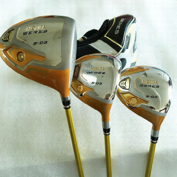 New Golf Clubs Honma S-03 4star Golf Wood Set Driver+fairway Woods Graphite Golf Shaft And Clubs Headcover Freeshipping