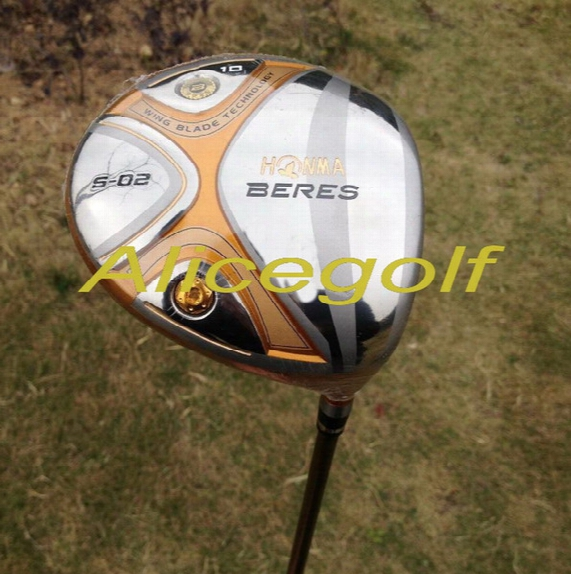 New Golf Driver 4 Stars Honma Beres S-02 9 Or 10 Degree With Stiff Or Regular Shaft Japan Golf Clubs
