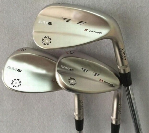 New Golv Wedges Sm6 Wedges Steel Grey/silver/jet Black 50 52 54 56 58 60 Degree 3pcs/lot Oem Quality Golf Clubs