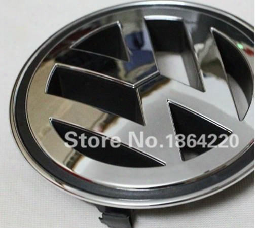 New Vw Volkswagen Front Grill Badge Emblem Plating For Passat Cc Jetta A5 Sagita Golf Tiguan 150mm Free Shipping Oem:1k585300