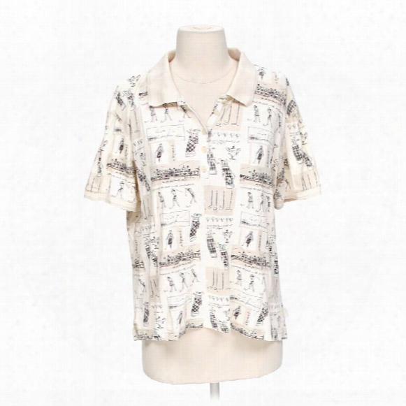 Patterned Golf Shirt, Size M
