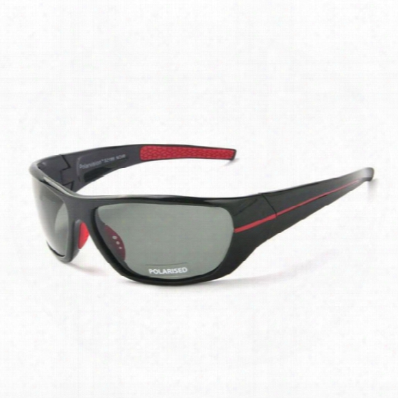 Polarized Sport Sunglasses For Men Wrap Around Frame Tac Gray Lens Mens Driving / Fishing / Golf / Baseball Sun Glasses Eyewear