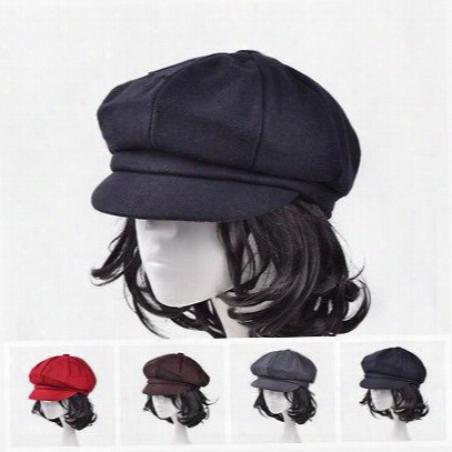 Stylish Chic Caps Unisex Women Men Wool Eight Panel Newsboy Cap Warm Flat Hat Cabbie Golf Beret Ne