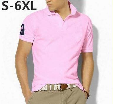 Top Quality Men's Fashion Polos Short Sleeve Shirt Mens Brand Casual Shirt Quick-drying T-shirt,mens Golf Shirt Cotton Big Horse 5xl 6xl